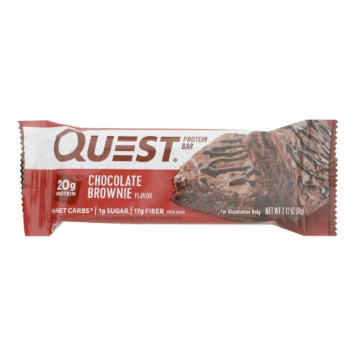 Quest Bar - Chocolate Brownie - 2.12 oz - case of 12 Perspective: front
