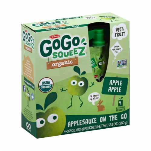 GoGo Squeeze Sauce - Apple - Case of 12 - 3.2 oz. Perspective: front