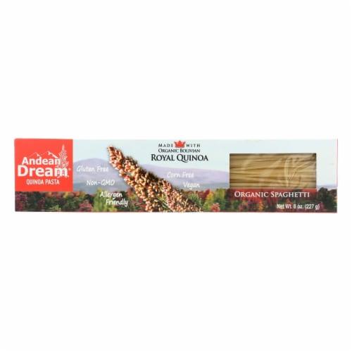 Andean Dream Gluten Free Organic Spaghetti Quinoa Pasta - Case of 12 - 8 oz. Perspective: front