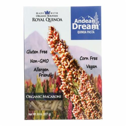 Andean Dream Gluten Free Organic Macaroni Quinoa Pasta - Case of 12 - 8 oz. Perspective: front