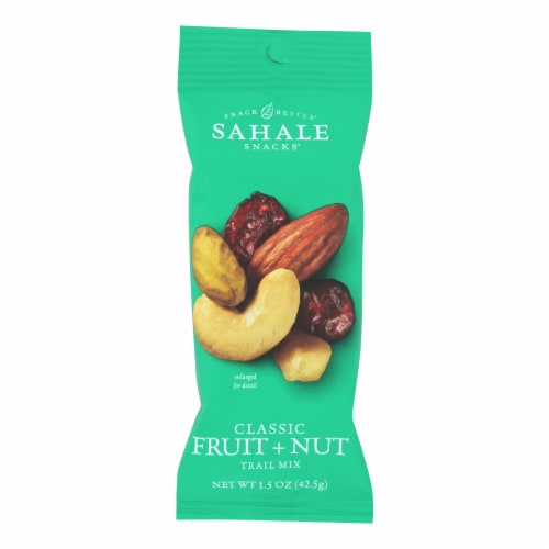 Sahale Snacks Classic Fruit and Nut Blend Trail Mix Perspective: front