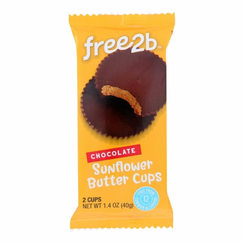 Free 2 B - Sun Cups Rice Chocolate 2-cup - Case of 12-1.4 OZ Perspective: front