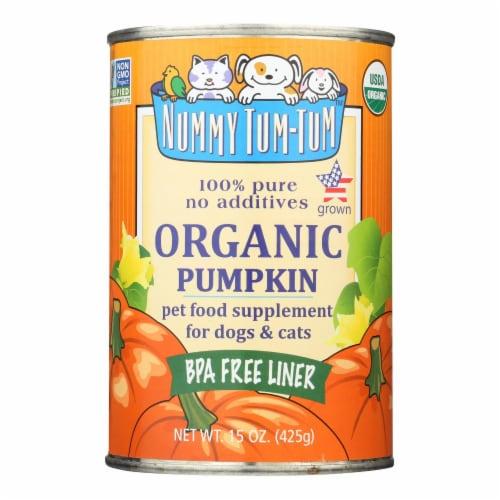 Nummy Tum-Tum Pure Pumpkin - Organic - Case of 12 - 15 oz. Perspective: front