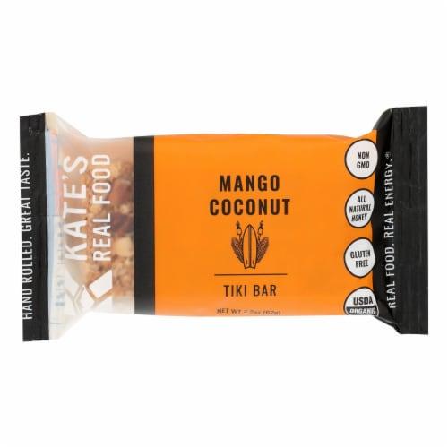 Kate's Real Food - Bar Organic Tiki Mango - Case of 12 - 2.2 OZ Perspective: front