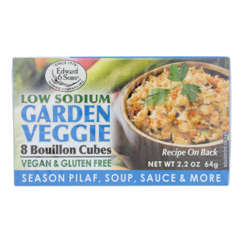 Edwards and Sons Natural Bouillon Cubes - Veggie - Low Sodium - 2.2 oz - Case of 12 Perspective: front