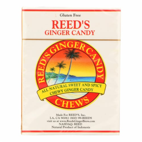 Reed's Ginger Beer Chewy Ginger Candy Rolls - Case of 20 - 2 oz Perspective: front