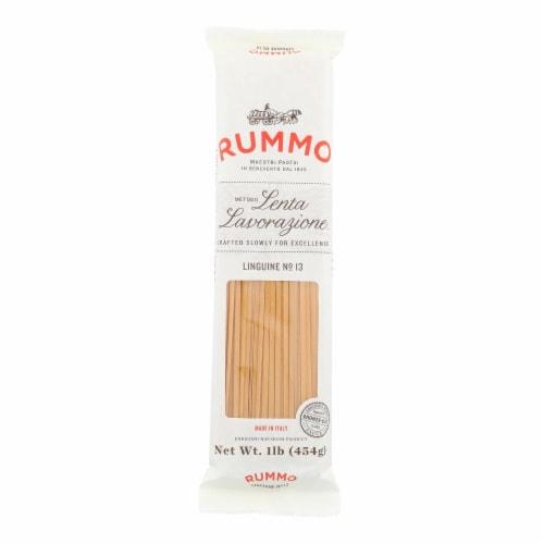 Rummo Lenta Lavorazione Linguine No. 13 Pasta - Case of 20 - 16 OZ Perspective: front