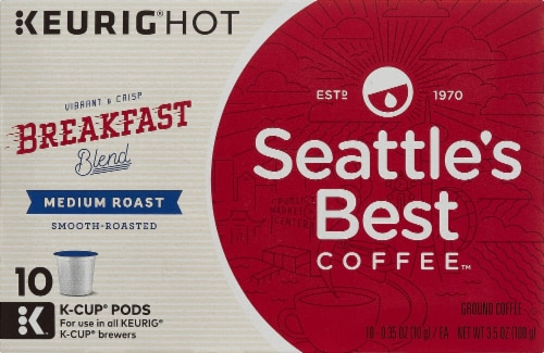 Seattle's Best Breakfast Blend Medium Roast Coffee K-Cup Pods Perspective: front
