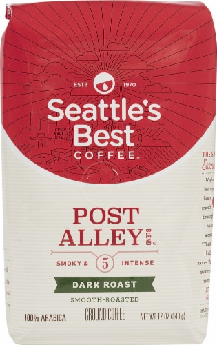 Seattle's Best Coffee  Ground Coffee  Dark Roast   Post Alley Blend Perspective: front