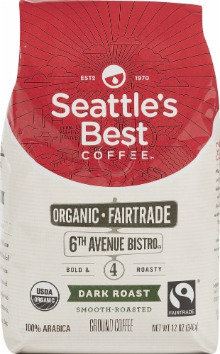 Seattle's Best Coffee  Organic Ground Coffee Dark Roast   6th Avenue Bistro Perspective: front