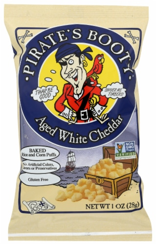 Pirate Brands Booty Aged White Cheddar Puffs Perspective: front