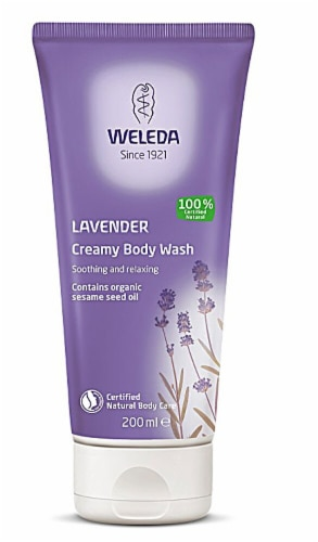 Weleda Lavender Creamy Body Wash Perspective: front