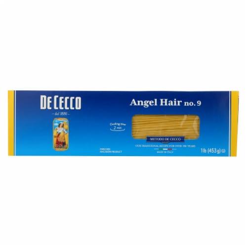 De Cecco Pasta - Angel Hair Capelini Pasta - Case of 20 - 16 oz. Perspective: front