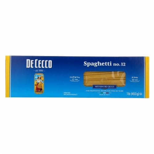 De Cecco Pasta - Spaghetti Pasta - Case of 20 - 16 oz. Perspective: front