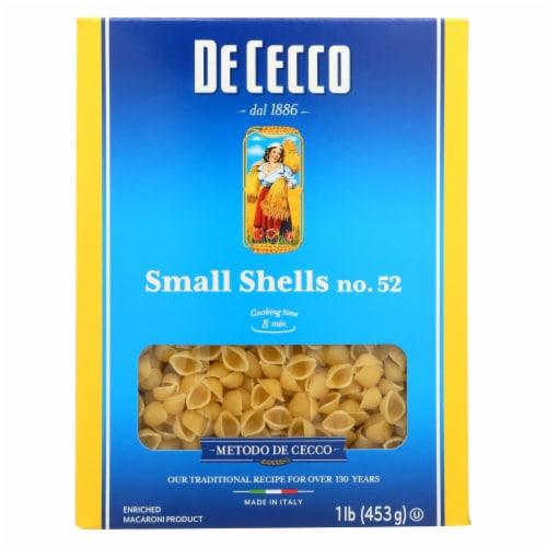 De Cecco Pasta - Pasta - Conchiglie - Case of 20 - 16 oz Perspective: front