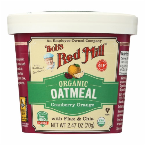Bob's Red Mill - Oatmeal Cup - Organic Cranberry Orange - Gluten Free - Case of 12 - 2.47 oz Perspective: front