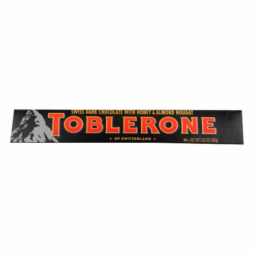Toblerone Sweet Dark Chocolate With Honey & Almond Hougat - Case of 20 - 3.52 OZ Perspective: front
