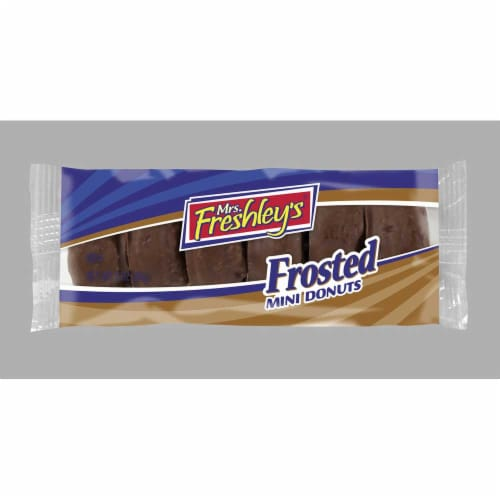 Mrs Freshleys Chocolate Mini Donut, 3.3 Ounce -- 72 per case. Perspective: front