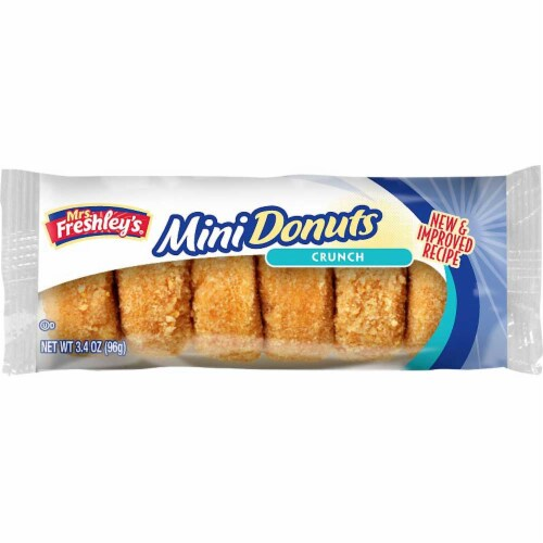 Mrs Freshleys Crunch Mini Donut, 3.4 Ounce -- 72 per case. Perspective: front