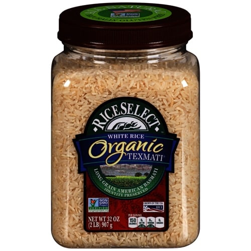 RiceSelect Organic Texmati Long Grain White Rice (4 Pack) Perspective: front