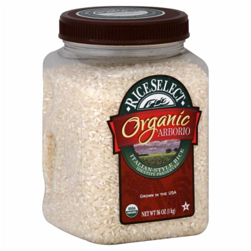 RiceSelect Organic Arborio Italian-Style Rice Case (4 Pack) Perspective: front