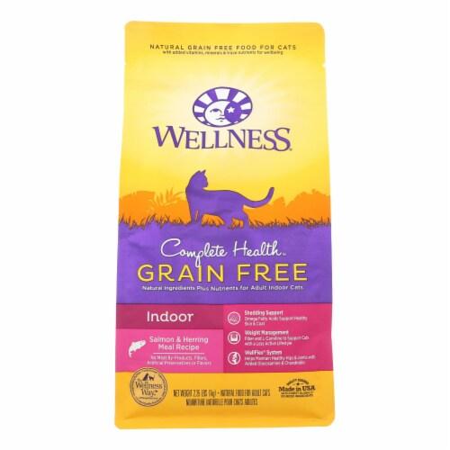 Wellness Pet Products - Cat Dry Indoor Slmn Herrg - Case of 6 - 2.25 LB Perspective: front