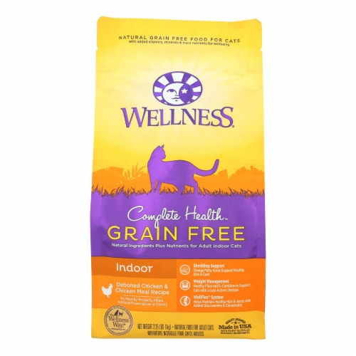 Wellness Pet Products - Cat Dry Indoor Chk Chk Ml - Case of 6 - 2.25 LB Perspective: front