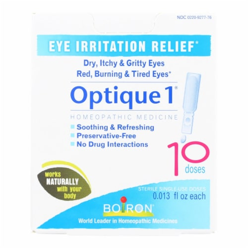Boiron Optique 1 Eye Irritation Relief Drops Perspective: front