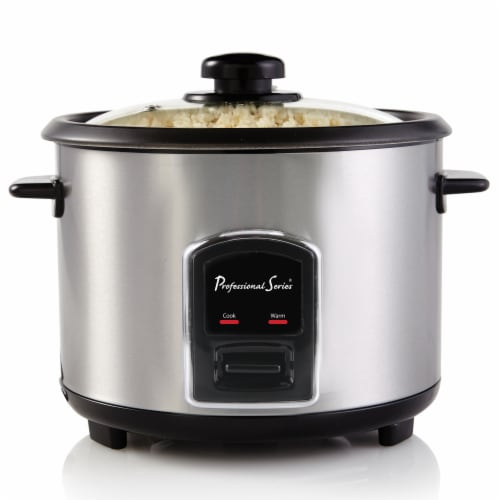 Professional Series 12-Cup (Cooked) Rice Cooker Stainless Steel Perspective: front