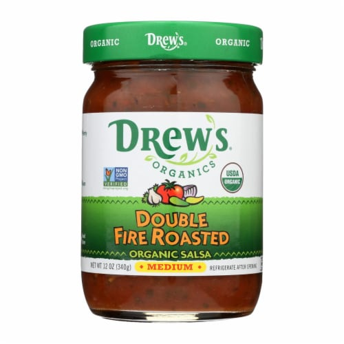 Drew's Organics Double Fire Roasted Salsa - 12 Oz. - Case of 6 Perspective: front