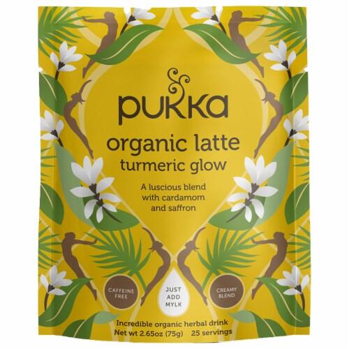 Pukka Latte Turmeric Glow Herbal Tea Perspective: front