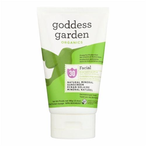 Goddess Garden Organic Sunscreen - Facial SPF 30 Lotion - 3.4 oz Perspective: front