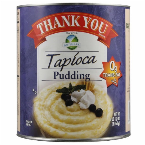 Bay Valley Foods Tapioca Thank You Pudding -- 6 cans per case. Perspective: front