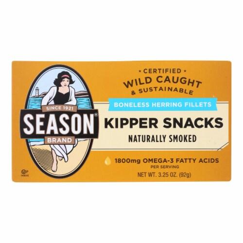 Season Brand Norwegian Kipper - Salt Added - Case of 24 - 3.25 oz. Perspective: front