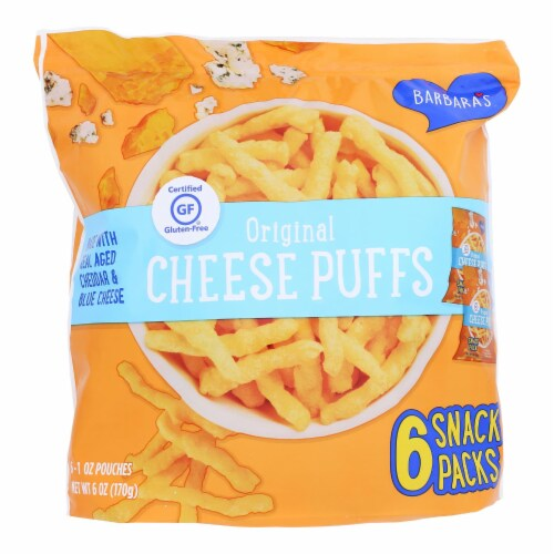 Barbara's Bakery - Cheese Puffs Multipack - Case of 6 - 6/1 oz Perspective: front