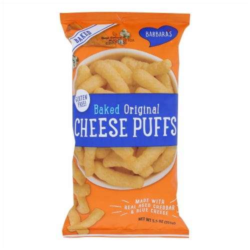 Barbara's Bakery - Baked Original Cheese Puffs - Case of 12 - 5.5 oz. Perspective: front
