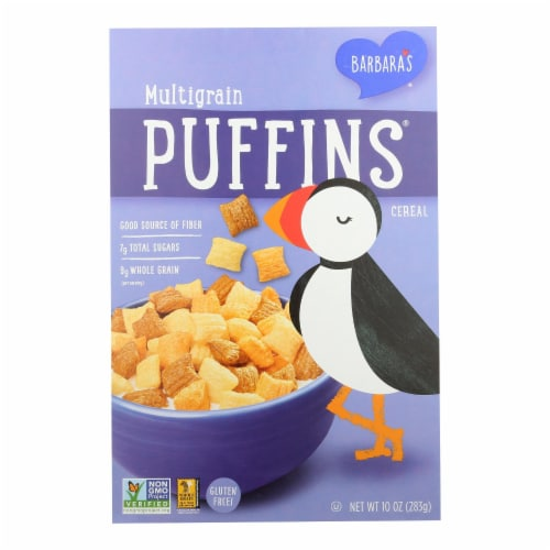 Barbara's Bakery - Puffins Cereal - Multigrain - Case of 12 - 10 oz. Perspective: front