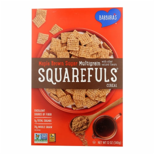 Barbara's Bakery - Multigrain Squarefuls - Maple Brown Sugar - Case of 12 - 12 oz. Perspective: front
