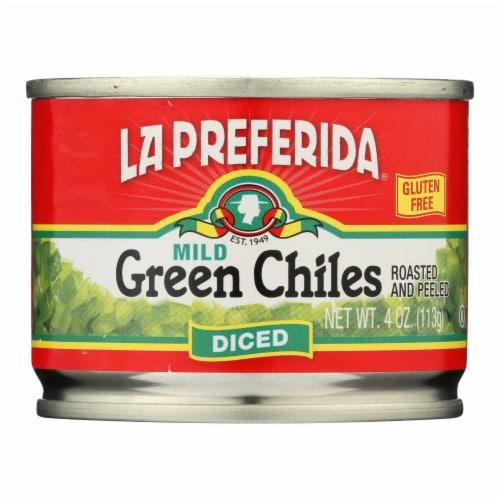 La Preferida Green Chiles - Diced - Case of 24 - 4 oz. Perspective: front