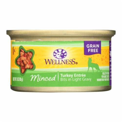 Wellness Pet Products Cat Food - Turkey Entr?e - Case of 24 - 3 oz. Perspective: front