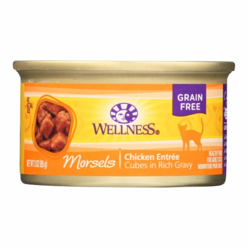 Wellness Pet Products Cat Food - Chicken Entr?e - Case of 24 - 3 oz. Perspective: front
