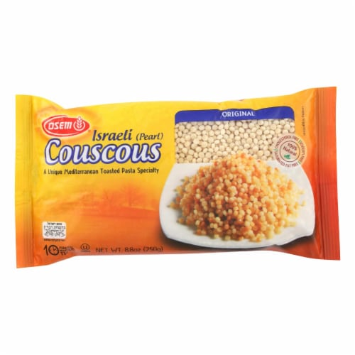 Osem Israeli Couscous Toasted Pasta - Case of 24 - 8.8 oz. Perspective: front