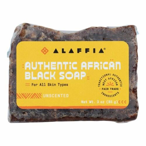 Alaffia - African Black Soap - Unscented - 3 oz. Perspective: front