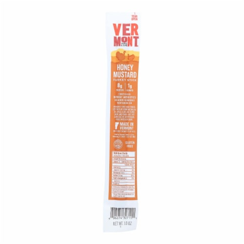 Vermont Smoke And Cure RealSticks - Turkey Honey Mustard - 1 oz - Case of 24 Perspective: front