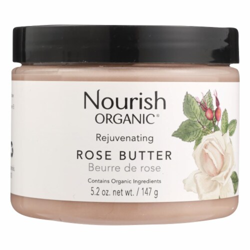 Nourish Face Cleanser - Organic - Rose Butter - 5.2 oz Perspective: front