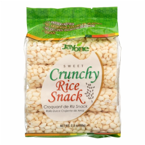 Jayone Crunchy Rice Snack  - Case of 6 - 2.8 OZ Perspective: front