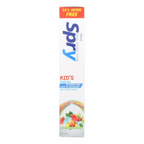 Spry Toothpaste - Kids - Tropical Fruit - 5 oz Perspective: front