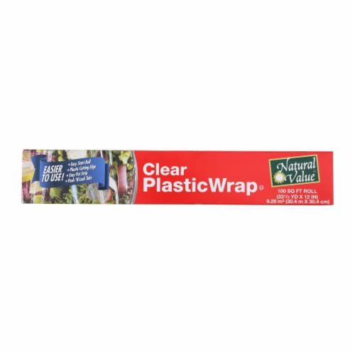 Natural Value Clear Plastic Wrap - Case of 24 Perspective: front