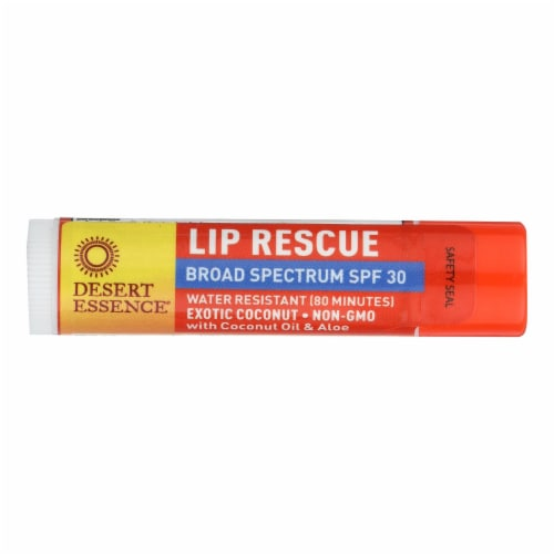 Desert Essence - Lip Balm - Exotic Coconut - Spf30 - Case of 24 - .15 oz Perspective: front