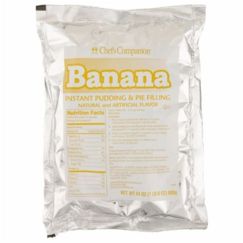 Chefs Companion Instant Banana Pudding Mix, 24 Ounce -- 12 per case. Perspective: front